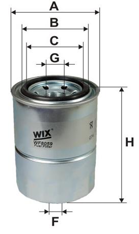 Reservefilter WIX Drivstoffilter WF8059 106958